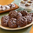Chocolate Truffle Cookies with Sea Salt - The rich flavor of chocolate shines in these soft and gooey chocolate chip cookies, enhanced with just a pinch of coarse sea salt.