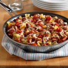 Hunt's(R) Savory Skillet Lasagna - Stovetop lasagna made with layers of cooked pasta, tomato sauce, sausage and cheese.