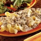 Sausage Stroganoff - This easy classic is based on the usual beef stroganoff, but is made more flavorful using sausage.