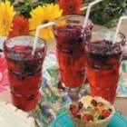 April Fools Berry Soda - Fresh berries floating in gelatin look good enough to drink--but you'll need a spoon instead of a straw!
