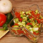 Fresh and Light Cucumber Salsa - This is a fast and fresh salsa made with roma tomatoes, canned tomatoes and green chiles, cucumbers and cilantro.