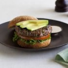 California Avocado Steakhouse Burger - This beef and veggie burger adds extra produce to your burger patty making it more flavorful and juicy. Then it is topped with Fresh California Avocado, lettuce and tomato. It is great served with the Steakhouse Lite Ranch Sauce and fresh veggies like carrots and celery for dipping, making this a produce packed meal. Good source of Vitamin C, Calcium and Iron.