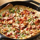 Veggie and Sausage Skillet Pizza - A veggie- and sausage-filled variation of a deep dish pizza that will be a hit with pizza lovers.