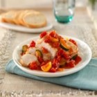 Hunts(R) Chicken with Mediterranean Vegetables - Chicken breasts simmer with squash and onion in diced tomatoes for a quick, simple dinner.