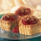 Berry Crumb Tarts - Pepperidge Farm(R) Puff Pastry Shells are filled with a colorful fruit filling, and finished with a crunchy streusel crumb topping.