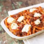 Cheesy Italian Meatball Casserole - A baked pasta recipe is a surefire crowd pleaser, especially when it's full of Italian meatballs, Classico(R) Four Cheese pasta sauce, and luscious cheeses.