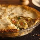 Easy Weeknight Chicken Pot Pie - This super-easy version of pot pie is in the oven in just 10 minutes.