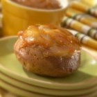 Apple Upside-Down Cakes - You'll flip over these little cakes made with slices of Golden Delicious apples, spice cake and Marzetti(R) Old Fashioned Caramel Dip.