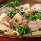 Rigatoni with Italian Sausage and Broccoli Rabe - This hearty pasta recipe combines spicy Italian sausage with broccoli rabe, for a quick and satisfying supper.