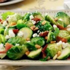 Roasted Brussels Sprouts with Blue Cheese and Bacon