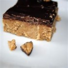 Chocolate Peanut Butter Squares - An easy homemade version of the famous peanut butter cup candies.
