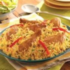 Arroz con Pollo (Chicken and Rice) - The Classic Caribbean and Spanish Meal--Arroz con Pollo--is a popular staple in the Caribbean kitchen. Our chicken and rice is extra special with the addition of Sazon GOYA(R) with Azafran, which adds color and flavor derived from our unique saffron spice blend. Make Arroz con Pollo tonight--everyone loves an easy rice and chicken dish.