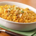 Pumpkin Pastina - Winter squash and tiny pasta, turkey chunks and Parmesan simmered in a rich chicken broth and seasoned with thyme make a delicious warming supper on a cool autumn evening.