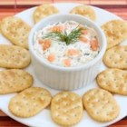 Cold Smoked Salmon Spread from Town House(R) - Whipped cream cheese with smoked salmon, chives, dill, and capers is a classic combination and it's perfect spread on crackers.