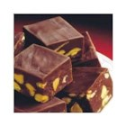 Chocolate Peanut Butter Chip Fudge - A rich chocolate fudge is accented with bits of peanut butter flavor. Children will love helping to make this easy fudge.