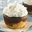 Chocolate-Coconut Jumbo Pie Cupcakes - Pie is the new cupcake--but don't choose between the two. One of our Top 10 Pies to Try has a mini-pie baked into a cupcake.