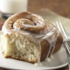 Frosted Cinnamon Rolls - Fill your house with the aroma of cinnamon as you bake a pan of these cinnamon rolls, topped with a vanilla-flavored icing--a perfect special occasion brunch treat.