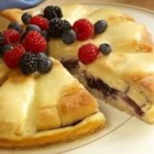 Sister Schubert's(R) Berry Cream Cheese Coffee Cake - A crumb crust & sweet filling will make it a great morning.