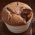 Dark Chocolate Souffles - Chocolate souffles, topped with fresh berries, are an elegant dessert for any special occasion.