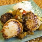Seared Scallops with Warm Pineapple Salsa