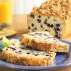 Blueberry Crumb Coffeecake Loaf - This blueberry coffeecake with a hint of lemon is easy, delicious, and perfect with your morning coffee or tea.
