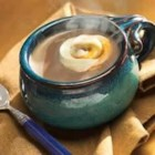 Caramel Cream Swirl Hot Chocolate - Topped with a creamy caramel swirl, this hot chocolate is a sweet, satisfying treat.
