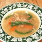Aunt Wanda's Turkey Carcass Soup - Eat to your heart's content the day after and/or freeze in several units. Take out of the freezer and heat in the zapper or in a double boiler. Enjoy that T-Day turkey until New Year's. Despite the name it is a really great soup that my sister's friend shared with me. This recipe is meant to use up any leftover vegetables and other ingredients; leftover green beans would make a great addition. Celery, onions, spinach and cabbage are tasty, too!