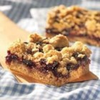 Blue Ridge Blackberry Lemon Bars - A layer of blackberry jam adds a sweet note to these lemony oat bars.