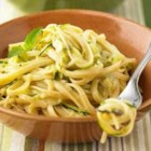 Creamy Linguine with Zucchini - Just a handful of ingredients go into this quick pasta toss; it's a great way to take advantage of a bumper crop of zucchini.