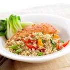 Asian Chicken and Rice from Uncle Ben's(R) - Begin with Uncle Ben's(R) Whole Grain Brown Rice and get the whole family eating right with Asian Chicken. Packed with sesame and gingerroot, it's nutritious yet plenty delicious to get the kids clearing their plates.