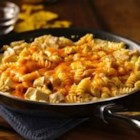 Cheesy Southwest Chicken Skillet - Make this 30-minute skillet dinner featuring pasta, chicken, Progresso™ Recipe Starters™ creamy three cheese cooking sauce and Old El Paso® diced green chiles--perfect for southwestern meals.
