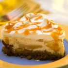 Caramel Silk Pie - The sweet and silky filling of this no-bake pie is a combination of caramel, sour cream, and cream cheese, all poured into a prepared crust.