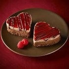 Ghirardelli Chocolate Raspberry Cheesecake Hearts - This decadent double-layer chocolate and raspberry cheesecake is irresistibly delicious for any special occasion.