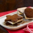 Ghirardelli Chocolate Peppermint Bark Sandwich Cookies - A refreshing Ghirardelli(R) Peppermint Bark square sandwiched between two light and airy chocolate cookies make these treats stand out in looks and taste during the holiday season.