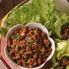 Easy Lettuce Wraps - Lettuce leaves are great wraps for stir-fried pork. This fun recipe is bursting with Asian flavors!