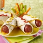 Hot Dog Roll Up - Cheesy and easy. This two-minute lunch idea is so simple, your kids can make them.