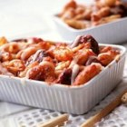 Classico(R) Baked Cavatelli - This quick and easy cavatelli casserole recipe uses simple but tasty ingredients such as fresh mozzarella and sausage.
