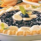 Banana Blueberry Pie - This light fruity dessert is so simple to prepare. It makes two, so you have one pie for guests and a second to enjoy the next day.