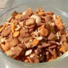 Hot and Spicy Party Mix - TABASCO(R) Pepper Sauce and Worcestershire sauce add lots of flavor to this crunchy snack mix that will feed a crowd.