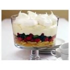 Spring Fruit Trifle - This fruit, wafer, and white chocolate pudding trifle is sure to impress the crowd at your next special occasion.