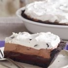 OREO Triple-Layer Chocolate Pie - Refrigerated pies are perfect when you need a make-ahead dessert. With an OREO Cookie crust and three layers of chocolatey creamy goodness, we suspect that this creamy pie will make it on your list of family favorites.