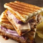 Barbecued Turkey and Cheese Panini - Make these tasty panini with just five ingredients!