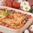 Chili Mac Casserole - This nicely spiced entree uses several of my family's favorite ingredients, including macaroni, kidney beans, tomatoes and cheese. Just add a green salad for a complete meal.                --Marlene Wilson of Rolla, North Dakota