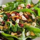 Harvest Salad from Oikos(R) - Crisp romaine topped with turkey, apples, nuts and a goat cheese and herb yogurt dressing.