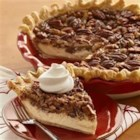 Vanilla Pecan Pie - Cheesecake meets pecan pie in this smooth and decadent seasonal dessert.