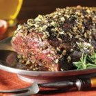 Herb and Garlic Roast Tenderloin with Creamy Horseradish Sauce - Beef tenderloin is roasted with fresh thyme and rosemary and served with a zesty horseradish sauce.