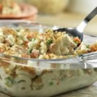 Super Chicken Casserole - Make it quickly, make it ahead, whatever works for you.  This flavorful casserole has protein, starch and vegetables all in one-dish.  It's a terrific weeknight dinner that has a tasty surprise ingredient - stuffing.