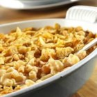 Ranchero Macaroni Bake - Mac 'n' cheese lovers get a boost with Pace(R) Salsa and a crunchy topping of tortilla chips.