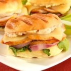Panini Sandwiches - Turkey and Swiss cheese panini with sundried tomato mayonnaise made with dinner rolls are quick and delicious!