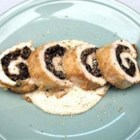 Mushroom Stuffed Chicken Rollups - Sauteed mushrooms make a wonderfully savory filling in these chicken rolls sauced with heavy cream.